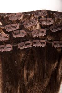 Włosy clip-in - czekoladowy ciemny brąz