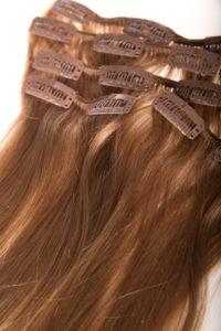 Włosy clip-in - jasny karmel