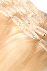 Włosy clip-in - złoty blond
