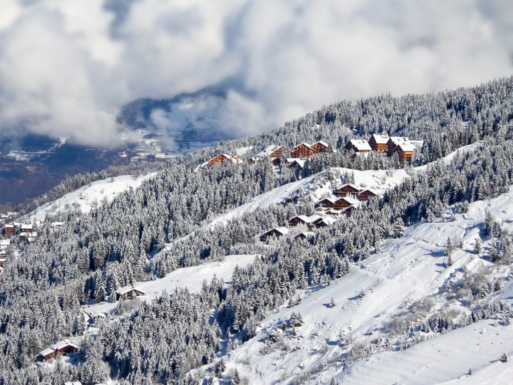 Meribel, Alpy, Francja