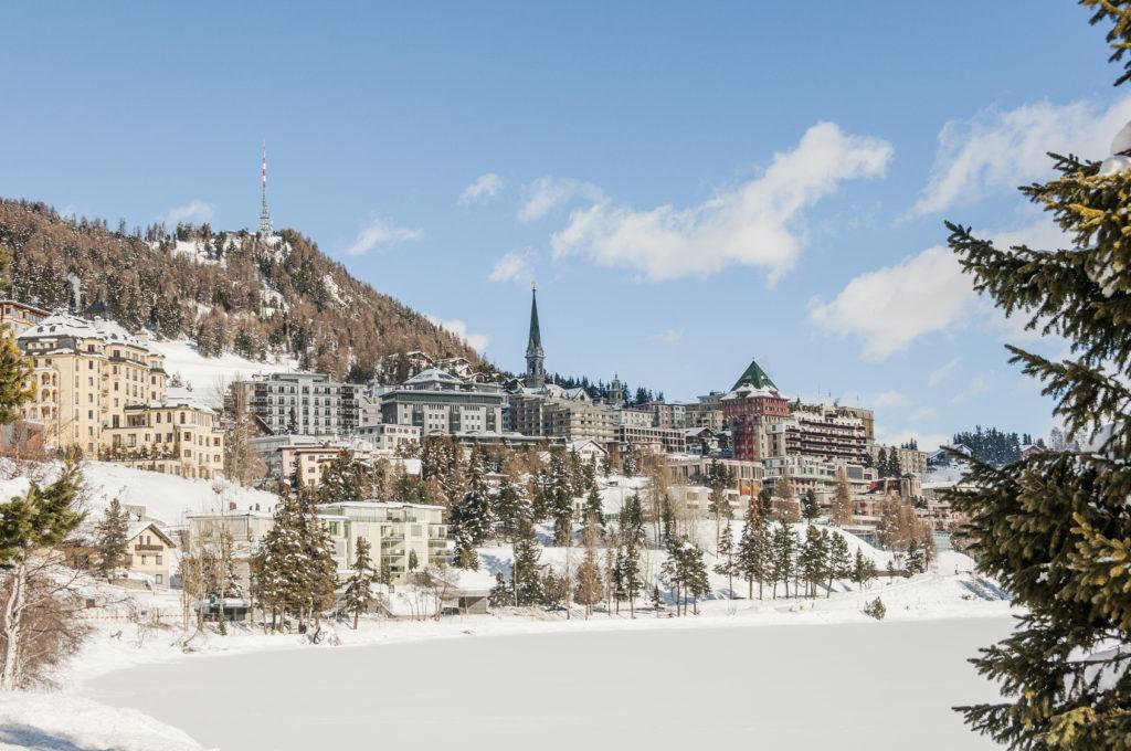 St. Moritz, Sankt Moritz, Alpy, Szwajcaria