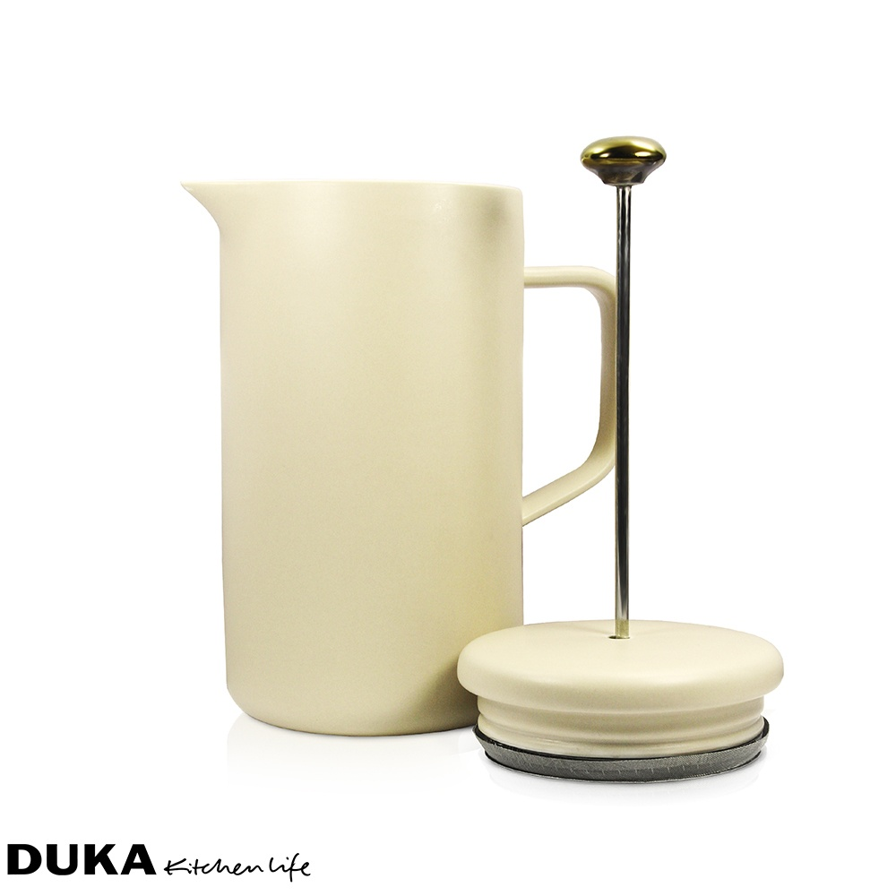 Porcelanowy french press - zaparzacz do kawy 1L