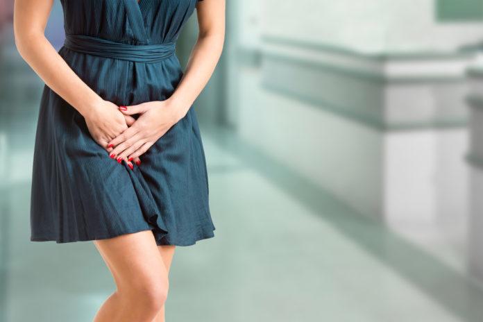 Kobieta z infekcją intymną