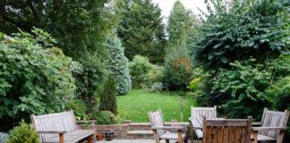 Patio z widokiem na ogród