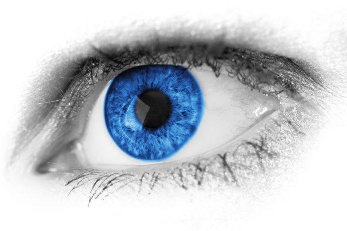 Niebieska soczewka