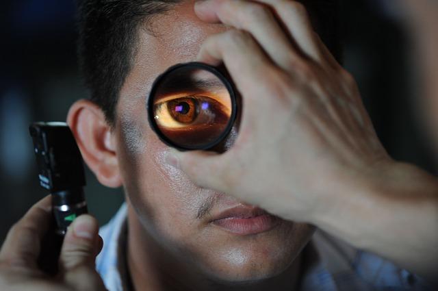 Podczas badania oka