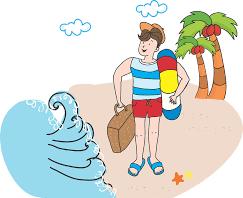 Mężczyzna na wakacjach