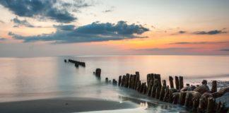 Piękne niebo nad morzem