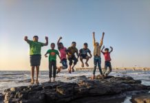 Dzieci podczas wakacji