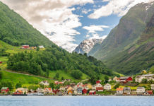 Krajobraz Norwegii
