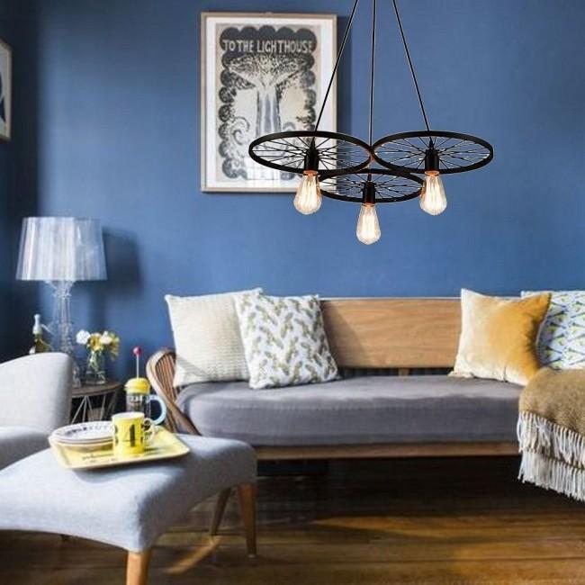 Designerska lampa w salonie