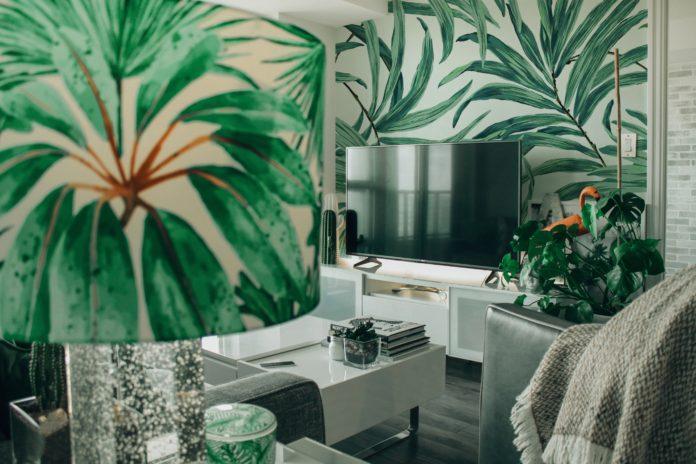 Wystrój wnętrza z motywami roślinnymi