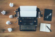 maszyna do pisania w stylu vintage