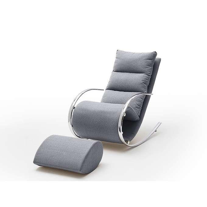 Szary fotel wypoczynkowy