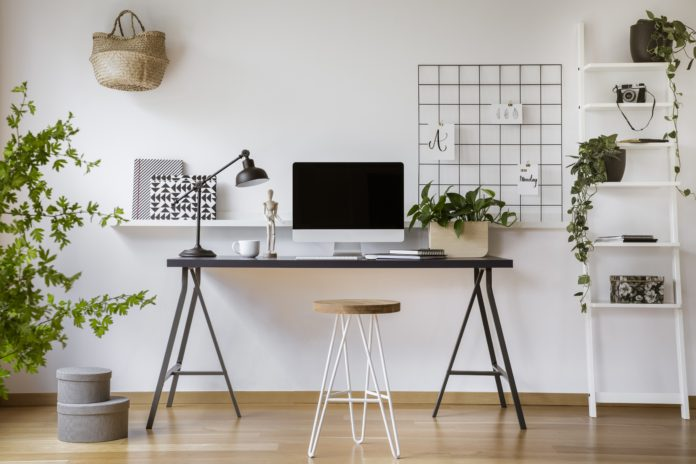 home office biurko lampka biurowa