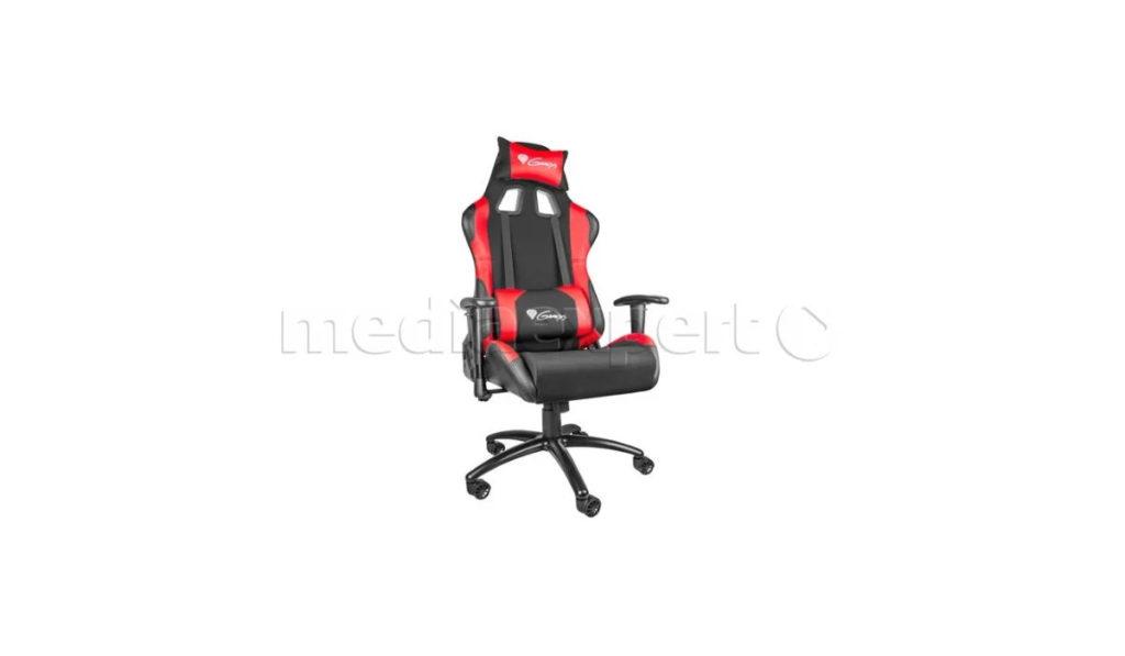 Czarno-czerwony fotel Genesis Nitro 550