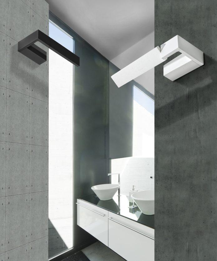 nowoczesna czarno biała łazienka