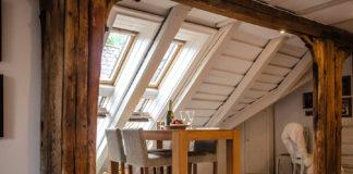 poddasze drewniane wnętrze