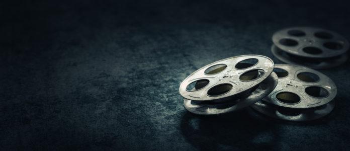 stare taśmy filmowe na rolkach