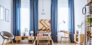 eleganckie wnętrze z zasłonami na wymiar