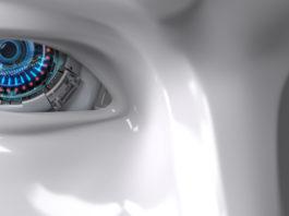 zbliżenie na oczy robota