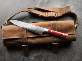 japoński nóż kuchenny ze stali damasceńskiej