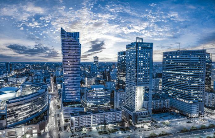 Centrum Warszawy z lotu ptaka