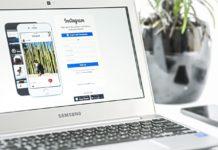 instagram konto na laptopie