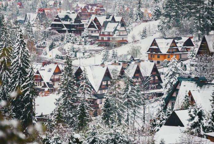 góralskie domki w Zakopanem