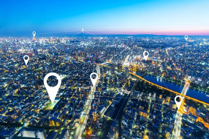 nowoczesne miasto GPS