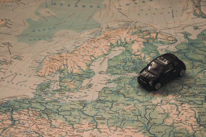 mapa - kraje skandynawskie