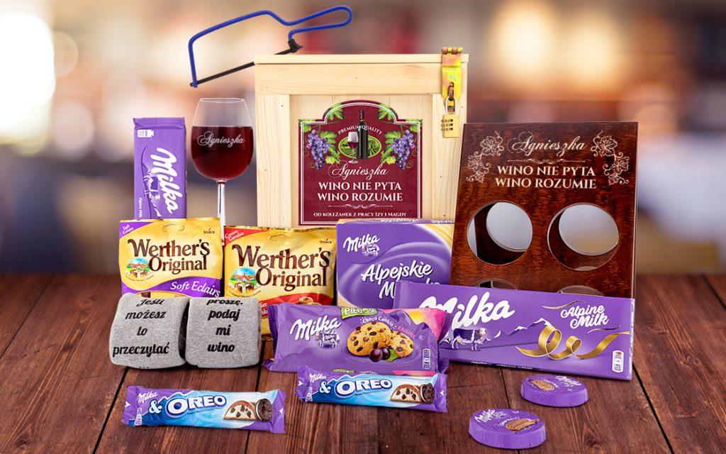 Box prezentowy dla miłośniczki wina